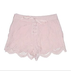 Kimchi Blue Light Pink Embroidered Shorts